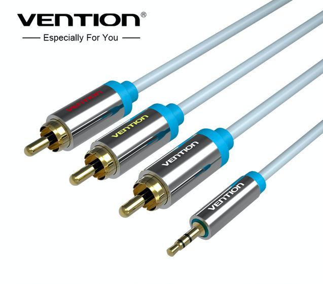VENTION Premium TV AV Kabel 3,5mm Klinke auf 3x RCA Cinch Stecker Camcorder