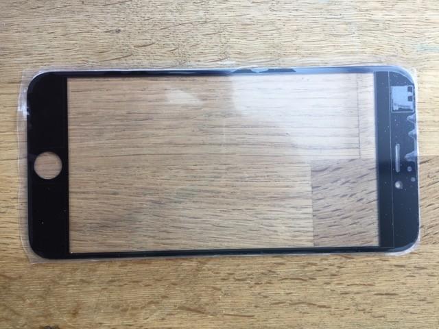 Glas / Scheibe Passend für iPhone 6 plus Reparatur-Set in schwarz