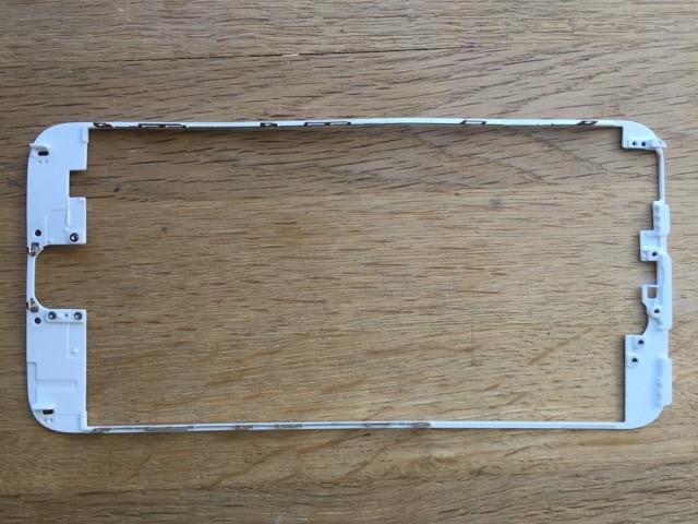 Mittleren Rahmen Passend für iPhone 5s Reparatur-Set in weiß