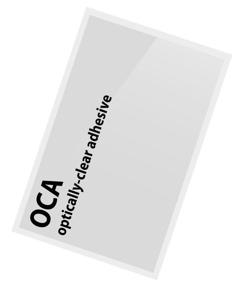 OCA Folie Glas Scheiben Kleber, Sticker, Klebefolie passend für iPhone 6 plus, 6s plus 250u