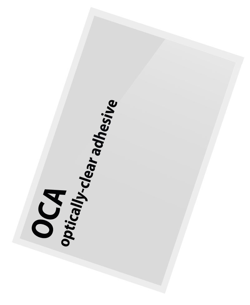 5x OCA Folie Glas Scheiben Kleber, Sticker, Klebefolie passend für iPhone 6 plus, 6s plus 250u