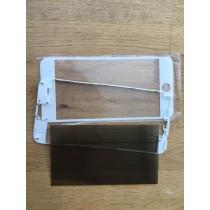 Reparatur-Set Passend für iPhone 6s plus mit Polarizer, Glas / Scheibe, mittleren Rahmen weiß