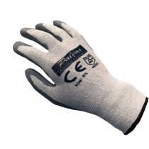 Palema ® schnittfeste Handschuhe mit Latex Beschichtung – Schnittschutz im Garten, Hobby, Beruf - Level 5 Schutz. Größe: L, 50 Paar