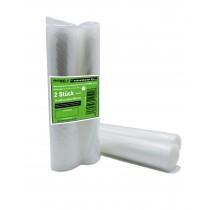 Kochfeste goffrierte Vakuumbeutel - 2 Rollen 25x600 cm - Sous Vide - strukturierte Folien-Beutel - verschiedene Größen